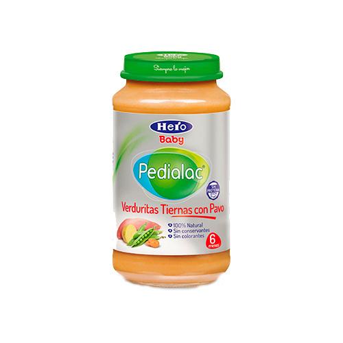 Pedialac verduritas con delicias de pavo - hero baby (235 g)