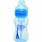 Biberon boca ancha pp options+ - dr brown´s natural flow (azul 270 ml)