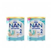 Nan optipro 2 leche de continuacion (duplo 2 u x 800 g)