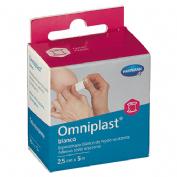 Esparadrapo hipoalergico - omniplast (tejido resistente blanco 5 m x 2.50 cm)