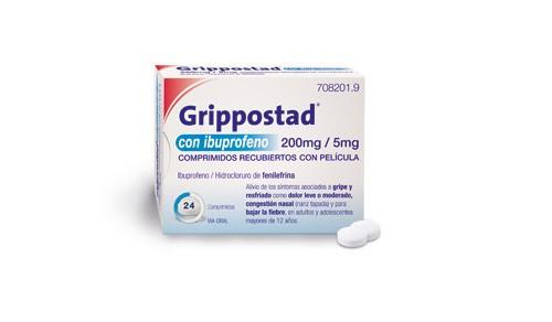 GRIPPOSTAD CON IBUPROFENO 200 MG/5 MG COMPRIMIDOS RECUBIERTOS CON PELICULA , 24 comprimidos