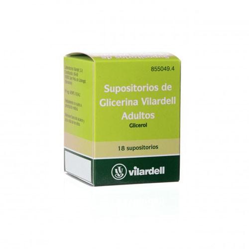 SUPOSITORIOS DE GLICERINA VILARDELL ADULTOS, 18 supositorios