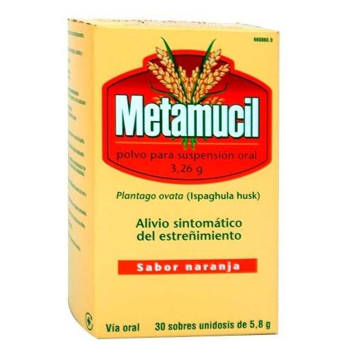 METAMUCIL 3,26 g POLVO PARA SUSPENSIÓN ORAL, 30 sobres