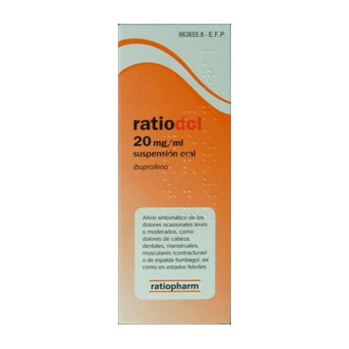 IBUPROFENO PHARMEX 20 mg/ ml SUSPENSION ORAL , 1 frasco de 200 ml