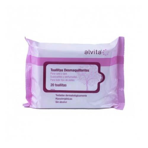 Alvita toallitas desmaquillantes (20 toallitas)