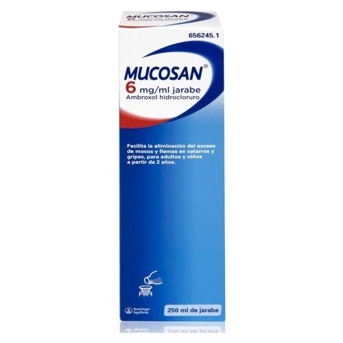 MUCOSAN 6 mg/ ml JARABE , 1 frasco de 250 ml