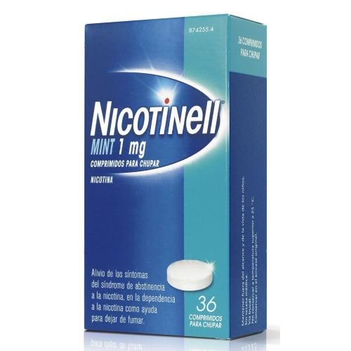 NICOTINELL MINT 1 mg COMPRIMIDOS PARA CHUPAR, 36 comprimidos