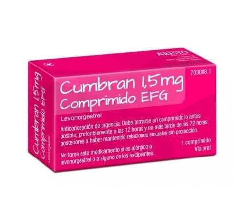 CUMBRAN 1,5 MG COMPRIMIDO EFG , 1 comprimido