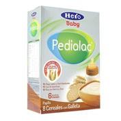 Pedialac papilla 8 cereales con galletas - hero baby (500 g)