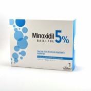 MINOXIDIL BIORGA 50 MG/ML SOLUCION CUTANEA , 1 frasco de 60 ml y 1 accionador con boquilla y 1 accio