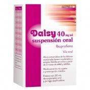 DALSY 40 mg/ml SUSPENSION ORAL , 1 frasco de 30 ml