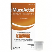 MUCOACTIOL 50 MG/ML SOLUCIÓN ORAL , 1 frasco de 200 ml