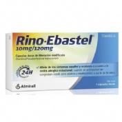 RINO-EBASTEL 10 mg/120 mg CAPSULAS DURAS DE LIBERACION MODIFICADA , 7 cápsulas